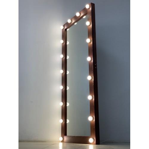 Напольное гримерное зеркало 180х80 цвета кофе
