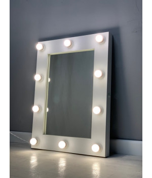 Бьюти зеркало в комнату с подсветкой 80х60 см 12 ламп