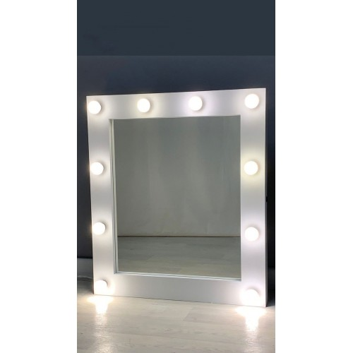 Матовое гримерное зеркало с подсветкой 80х90